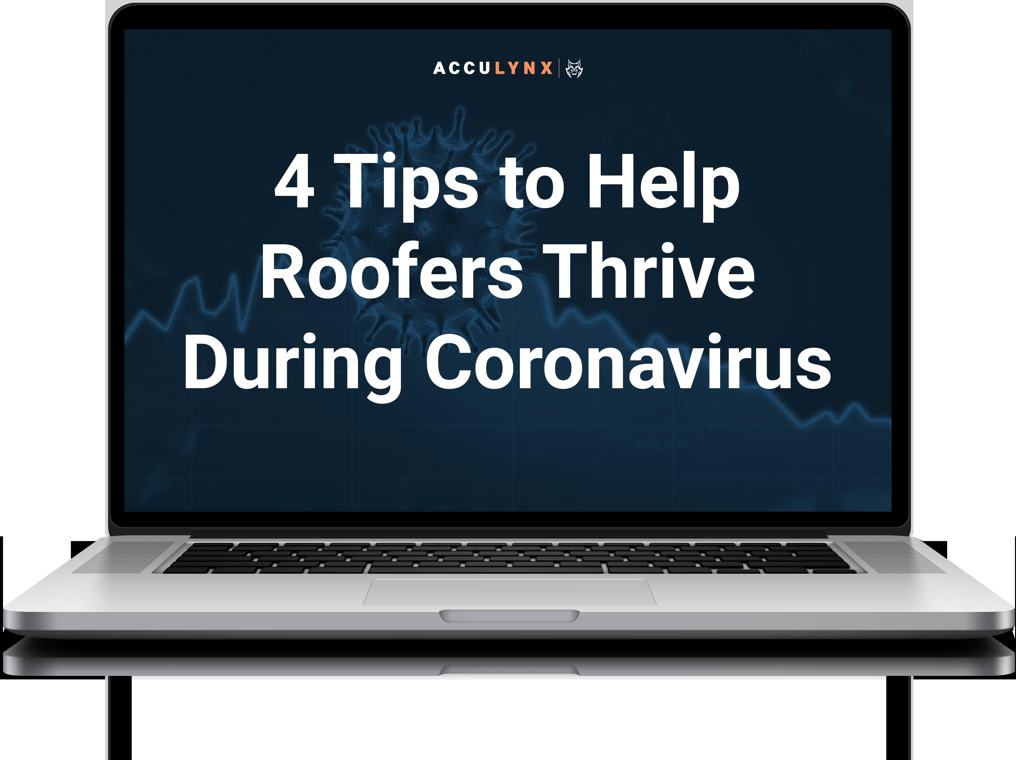 Roofing tips for coronavirus